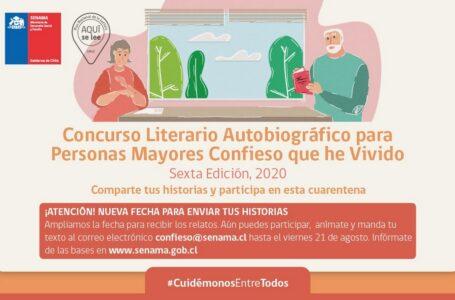 Se Amplía Plazo Para Participar En El Concurso Literario Autobiográfico Para Personas Mayores
