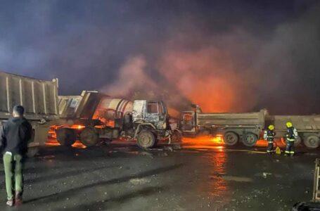 Confirman 17 Camiones y 2 Retroexcavadoras Destruidas en Ataque Incendiario de Padre Las Casas
