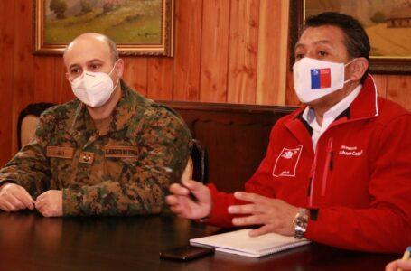 Gobernador Caifal Y General Pino Revisan Cordón Sanitario Por Fiestas Patrias