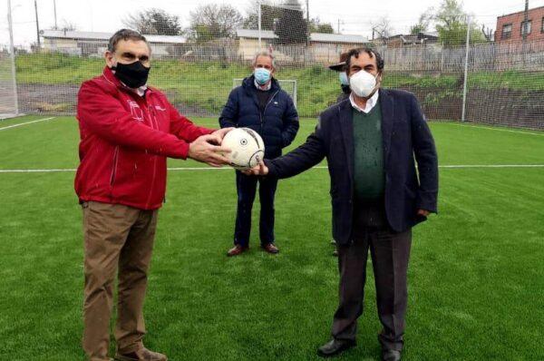 Autoridades Inauguraron Moderna Cancha De Pasto Sintético En Carahue