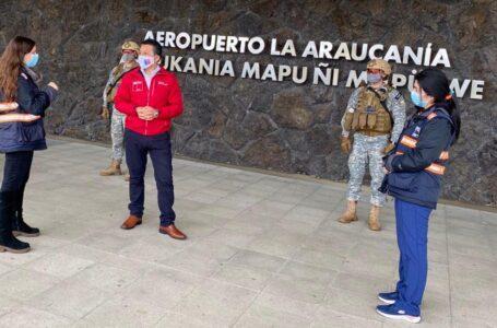 Gobierno Refuerza Control Sanitario en Aeropuerto de La Araucanía