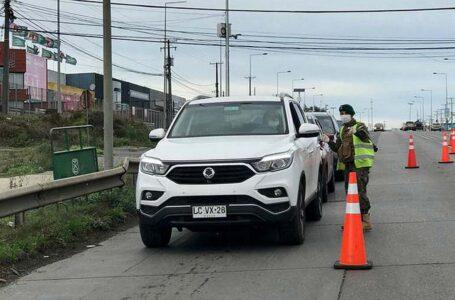 1.024 Vehículos Fueron Devueltos en Cordón Sanitario de Temuco-Padre Las Casas