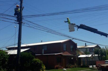 Importantes mejoramientos de Frontel en la red eléctrica de Freire