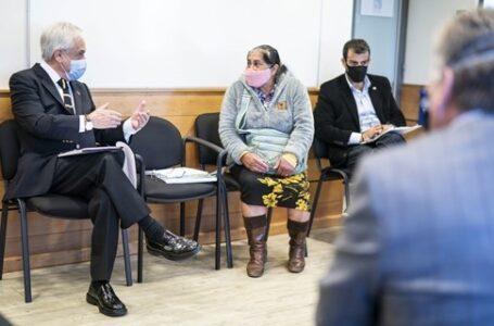 Presidente Piñera se reúne con víctimas de la violencia en La Araucanía