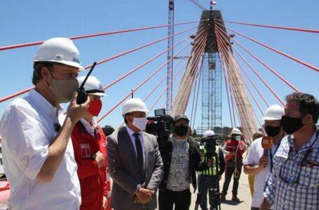 Obras de puente Treng Treng – Kay Kay entran en su fase final con la instalación de los últimos tirantes