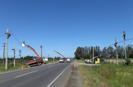 Frontel construye nueva línea eléctrica Labranza – Nueva Imperial