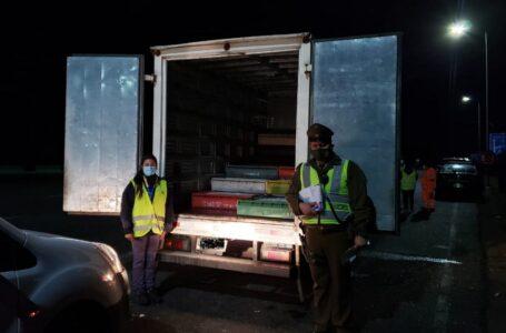 Fiscalización arroja 10 toneladas de pesca ilegal incautadas en controles carreteros en Araucanía