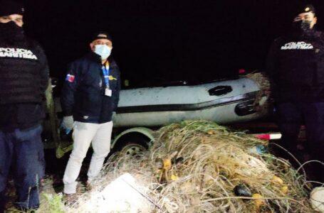 Pesca furtiva en La Araucanía: Incautan siete redes para capturar salmón