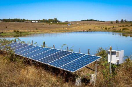 Comunidad Indígena de Los Sauces implementó sistema de riego a través de paneles solares