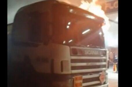 Ataque Incendiario Deja Seis Camiones Dañados y un Conductor Herido a Bala en Victoria