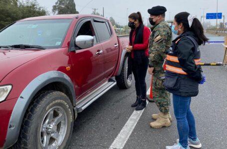 Semana Santa: Gobernadora de Cautín y jefe de Defensa Araucanía verifican cumplimiento de medidas sanitarias