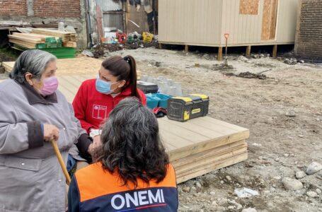 Gobierno en Terreno: Familias afectadas por incendio en Villarrica recibieron viviendas de emergencia