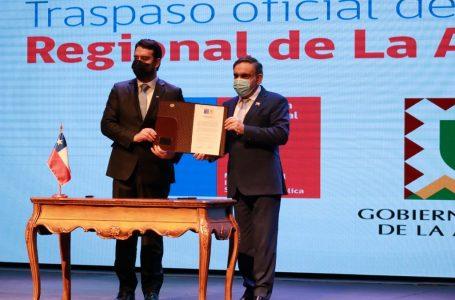 Delegado presidencial y gobernador regional asumen sus cargos en La Araucanía