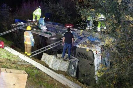 Un Fallecido De Puerto Saavedra y 40 Heridos Dejó Colisión De Narbus Y Dos Camiones En Parral