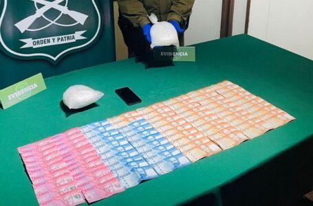 Detienen a Conductor con más de 2 kilos de Cocaína en Barros Arana