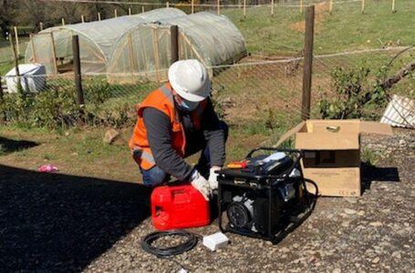 Frontel entregó generadores de respaldo a pacientes electrodependientes de Pillalelbun, Lautaro y Perquenco.